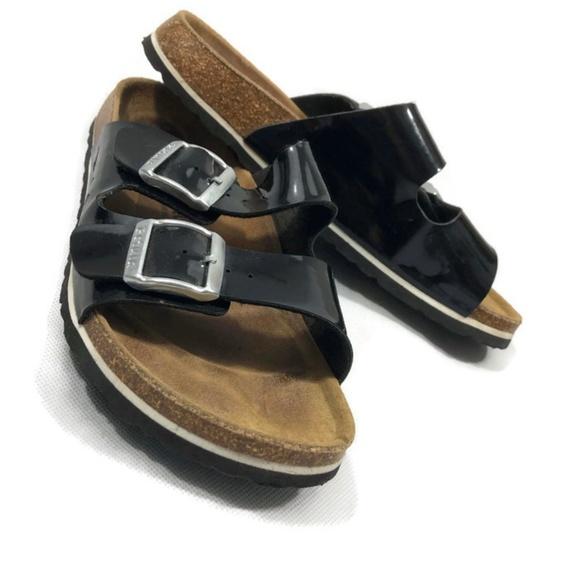 713d2c25157 Birkenstock Shoes - Betula Black 2 Strap Sandals Slip On Sandals 37